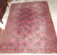 Turkoman rug with red ground W225 x L280cm