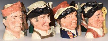 EightlargeRoyal Doulton character jugs from the Williamsburg Series