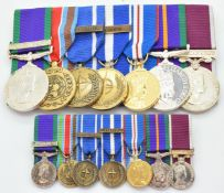 British Army group of seven medals comprising copy General Service medal with clasp for Northern