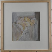 Adrian Heath (British 1920-1992) mixed media study of a nude, with certificate of authenticity, 20 x