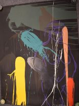 Bruce McLean (b1944) signed limited edition (52/60) screen print abstract study, signed and numbered
