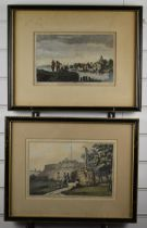 Two 19thC prints 'Ferry on the Severn' and 'Thames Head', each approximately 20 x 30cm