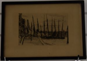 James Abbot McNeill Whistler (1839-1903) etching Billingsgate, signed and dated in the plate 1859,