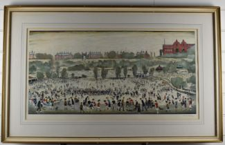 After Laurence Stephen Lowry RBA RA (1887-1976) Peel Park, signed limited edition (of 850) offset