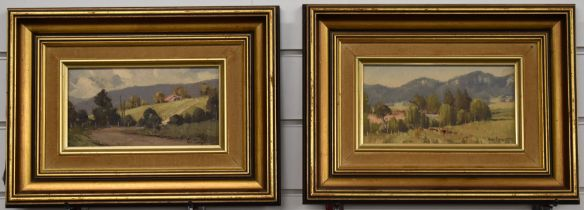 Werner Felipich (b1943) pair of Australian oils on board of outback landscape scenes, one titled