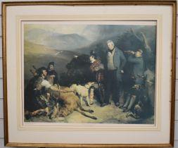 After Sir Edwin Landseer limited edition (148/300) print 'Death of a Hart in Glen Tilt', 49 x