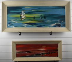 George Richard Deakins (1911-1982) two oil on board maritime studies, both signed, one dated 68,