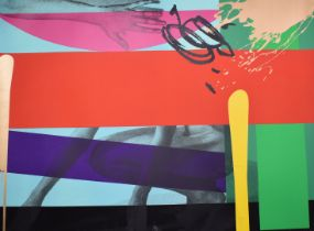 Bruce McLean (b1944) signed limited edition (16/40) screen print including a hand and nude legs