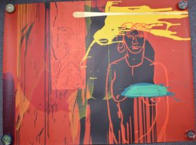 Bruce McLean (b1944) signed limited edition (16/60) screen print including a nude lady, signed and