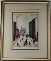 After Laurence Stephen Lowry RBA RA (1887-1976) Street Scene Near a Factory, signed limited