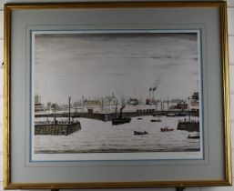 After Laurence Stephen Lowry RBA RA (1887-1976) The Harbour (Maryport), signed limited edition (of