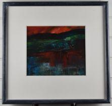 Gwilym John Blockley RI PPPS NEAC RWA (British 1921-2002) acrylic 'Brecon Beacons' abstract