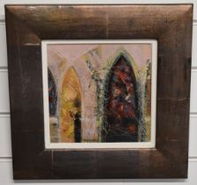 Charles Macqueen (Scottish b1940) 'Cloister', signed to lower edge, 21 x 21cm, titled verso, in