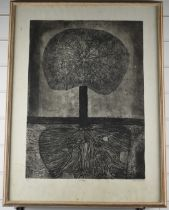 Kate Ponsonby (b1944 Suffolk) signed limited edition (2/6) study 'Tree', signed and dated 68 lower