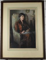 Sir Muirhead Bone (1876-1958)pastel portrait by repute depicting Margaret Sparrow, signed and dated