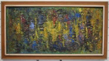 Kenneth 'Ken' Leech (1915-1990) Marine Surface 1960's retro vintage abstract oil on board in