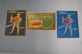 Three modern Nobel's shotgun cartridge shop display or advertising boards Nobel's Kingsway and two
