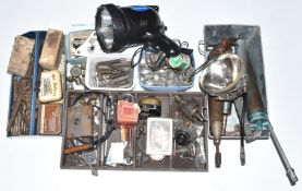 Austin Seven and related parts and tools to include taps, dies, grease guns, Stadium mirror, wiper