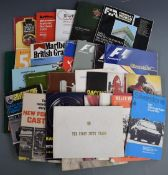 1950s and later motor car racing programmes to include Silverstone, mostly circa 1970s but some