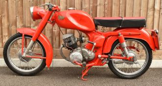 1953 Ducati 98T 98cc motorbike, restored by the vendor for display in his living room, non