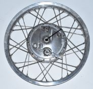 Honda 250 motorbike twin leading shoe hub fitted with 19 inch alloy rim