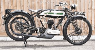 1925 Triumph model P 500cc side valve motorbike, registration number BF 6580 with V5c, in near