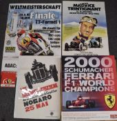 Three various motor car and motorcycle racing interest posters comprising Trophees de Gascogne, 1982