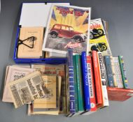 Austin Seven books, magazines and videos to include Woodrow manual, DVDs including Bristol Austin