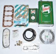 Austin Seven parts including new unused head gasket, further gaskets, Newton Bennet clutch