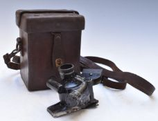 WW2 gun sight no.36280 by NPLS, Hon Reg Co 1942, with leather carry case