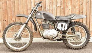 Rickman petite motocross motorbike, with BSA B25 250cc engine,ex Alex King 10%+VAT buyer's