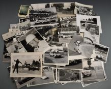 Motor car racing and other photographs, mostly 1940's-60's, many marked J.H.Carlton and annotated