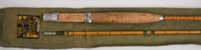 Hardy split cane two-piece fly fishing rod 'The Palakona'