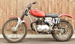 Sprite scrambler motorbike with Triumph 3TA engine, ex Alex King, with REH hubs, frame number AM