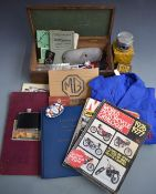 Motoring collectables to include Mk II Jaguar manual, Norton ES2 and other piston and rings,