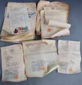 Mainly Oxford interest receipts, circa 1920s and 30s including T.M Gardiner Sporting Goods,