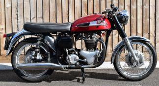 1964 Norton Atlas 750cc twin cylinder motorbike, registration number 177 HUU, with V5c. Having