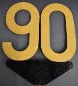 British Railways 90 speed limit sign, height 59cm