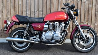 1980 Yamaha XS1100 motorbike registration NGS 439V, with V5c, used by the vendor for continental