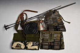 Magazine for Russian PPSH/41 machine gun pouch together with two cleaning kits for Mauser and two