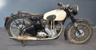 1952 Norton Model 18 500cc OHV barn or garage find plunger motorbike, transferable Oxfordshire