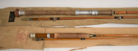 Two split cane fishing rods by Farlow and Sharpe