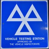 MOT vehicle testing station sign