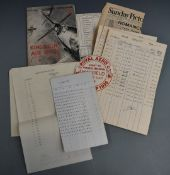 Royal Aero Club King's Cup 1936 air race collection of documents and ephemera to include paper car