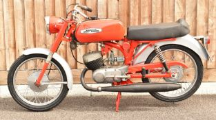 Aermacchi Harley Davidson 125cc Rapido motorbike, restored by the vendor for display including new