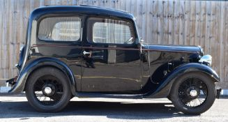 1938 Austin Seven Ruby, registration number EAF 904, with continuation 1964 buff logbook and V5c,