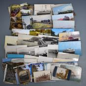 Shipping and railway postcards to include paddle steamers, Isle of Manand other shipping, GWR steam