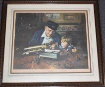 David Shepherd signed limited edition (24/850) print Grandpa's Workshop, 58 x 68cm, in wooden frame