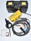 Gysmi 131T inverter TIG welder, in original carry case with torch, earth lead, stick welding lead,