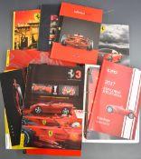 Ferrari car brochures, official magazines and yearbooks to include 458 Italia, 430 Scuderia, 355